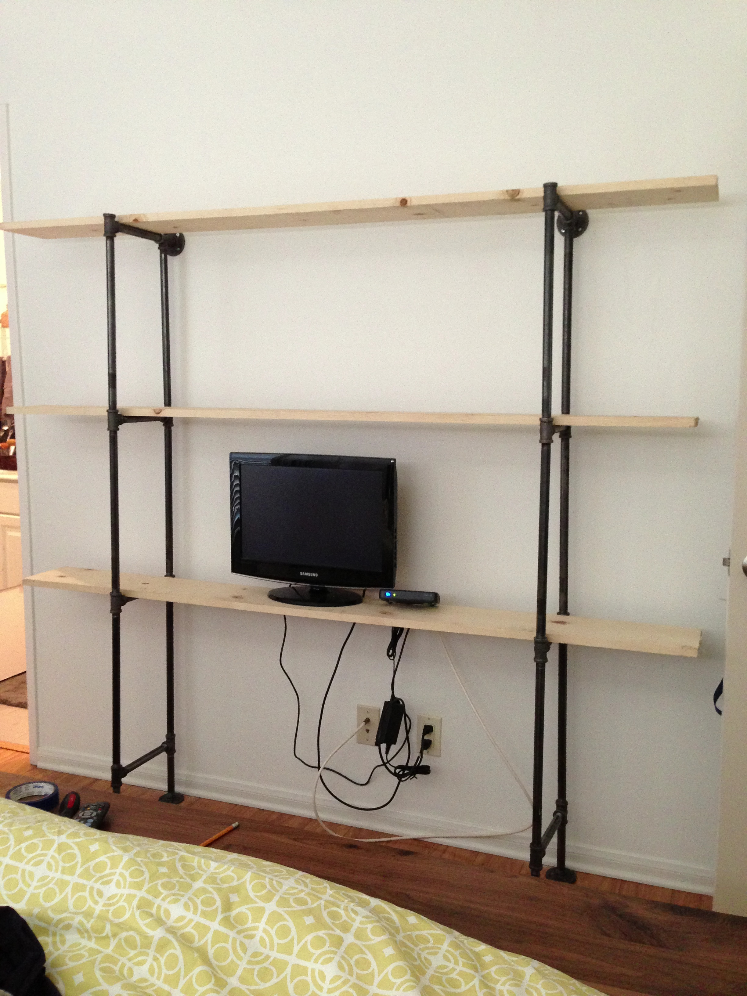 Diy industrial pipe shelf onigiri everyday