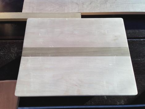 Here is one of the sanded boards. I sanded the edges a bit to take off sharp corners. I loved running my hands over everything when it was nice and smooth. aaahhhh...