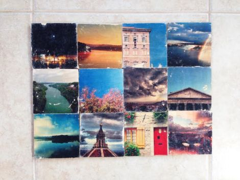 Tina and I put our coasters together for this final pic. The pics with bright, contrasting colors turned out the best.