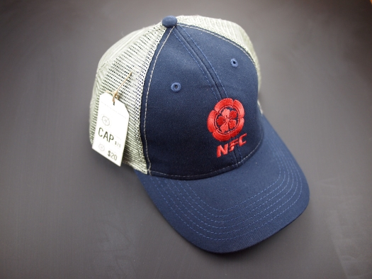 The limited run trucker caps embroidered with logo.