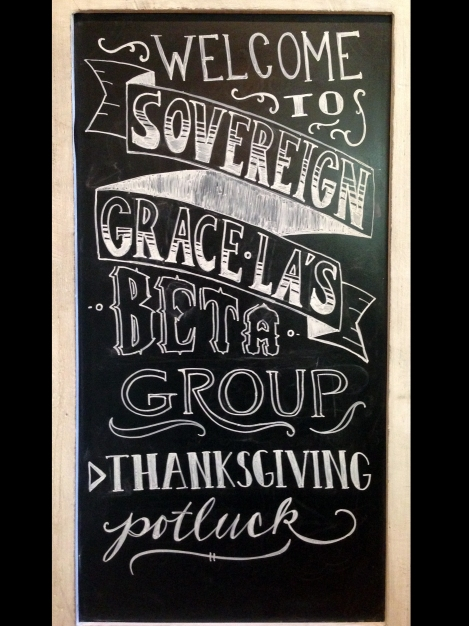 I hope this sign makes people thankful and hungry.