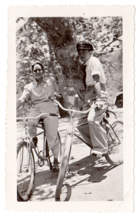 My grandparents in their younger days. This pic was taken in 1940 at a park in Orange County before the Japanese were evacuated from the West Coast.