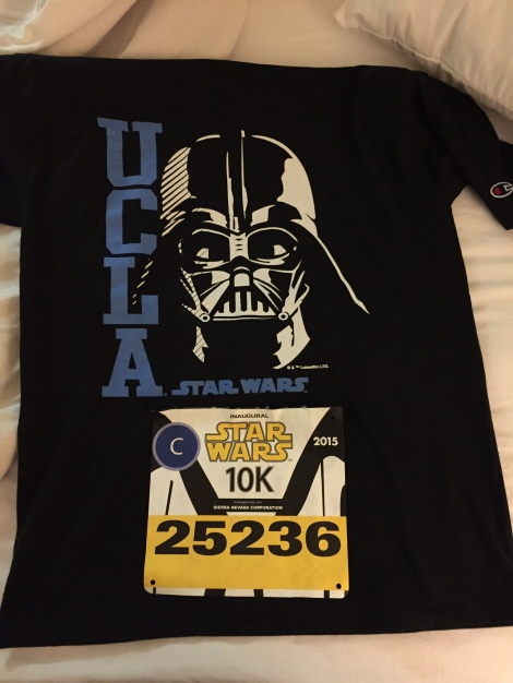 Tina from Tinamadeit.com gave me this amazing UCLA Star Wars shirt. I felt doubly proud wearing it for this.