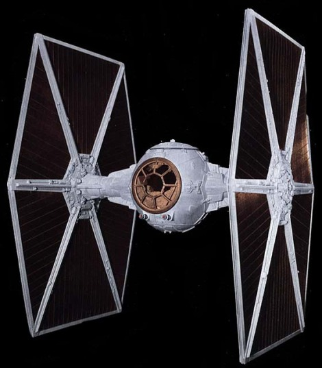 """The TIE fighter. The non-fans in our group kept referring to these as """"the spaceships of the bad guys"""". sigh."""